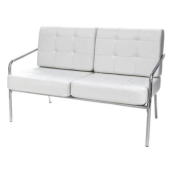 Tomasucci Jazz sofá de 2 plazas de Piel Blanca: Amazon.es: Hogar