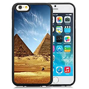 Beautiful Designed Antiskid Cover Case For iPhone 6 4.7 Inch TPU Phone Case With Great Pyramid Of Giza Egypt_Black Phone Case
