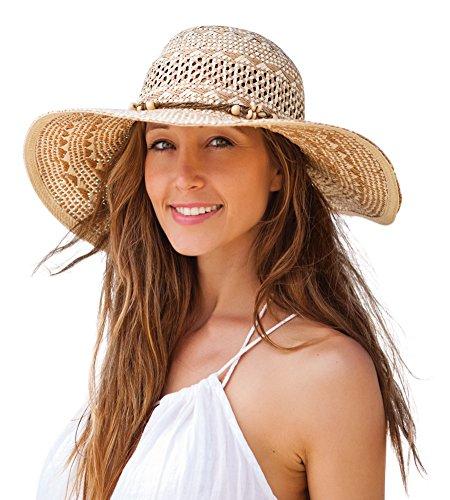 [Kooringal Ladies Wide Brim Twist Paper Marcoola Women's Sun / Beach Hat One Size Fits Most] (Sailor Straw Hat)