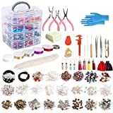 Jewelry Making Kit, 1960 pcs Jewelry Making Supplies Includes Jewelry Beads, Instructions, Findings, Wire for Bracelet…