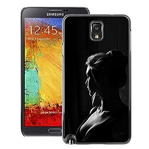 A-type Arte & diseño plástico duro Fundas Cover Cubre Hard Case Cover para Samsung Note 3 N9000 (Girl Woman Black White Portrait)