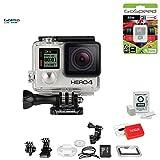 GoPro Hero4 Hero 4 12MP Full HD 4K 30fps 1080p 120fps Built-In Wi-Fi Waterproof Wearable Camera Black Adventure 32GB Edition (Wave)