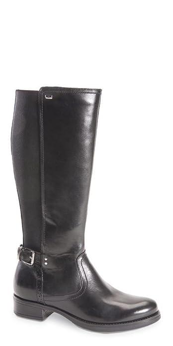 in vendita cab32 72cd6 Valleverde donna stivali neri 49531 scarpe in pelle inverno ...