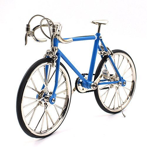 T.Y.S Racing Bike Model Alloy Simulated Road Bicycle Model Decoration Gift, Light Blue