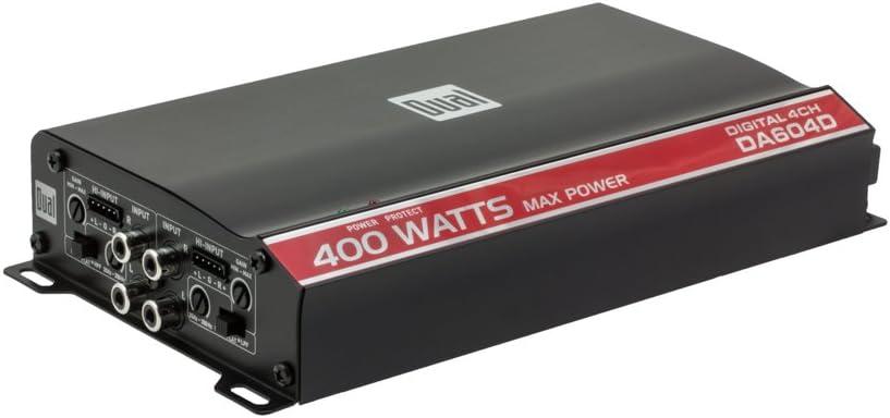 Dual Electronics DA954D High Performance Series MOSFET Class D Digital Four Channel Car Amplifier with 600 Watt Peak Power 51s8aayC8gLSL1000_
