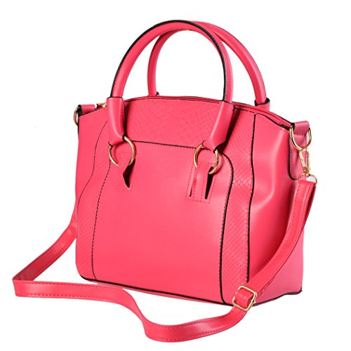 Bandolera - All4you señoras bolso bandolera moda cuero Tote Purse(White) Rojo