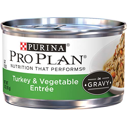 (Purina Pro Plan Gravy Wet Cat Food; Turkey & Vegetable Entree - 3 oz. Pull-Top Can (Pack of 24))