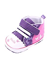 Weixinbuy Baby Girls Butterfly Soft Sole Infant Toddler Velcro Sneakers
