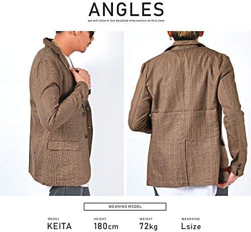LUX STYLE(ラグスタイル) テーラード ジャケット メンズ グレンチェック 細身 秋 春