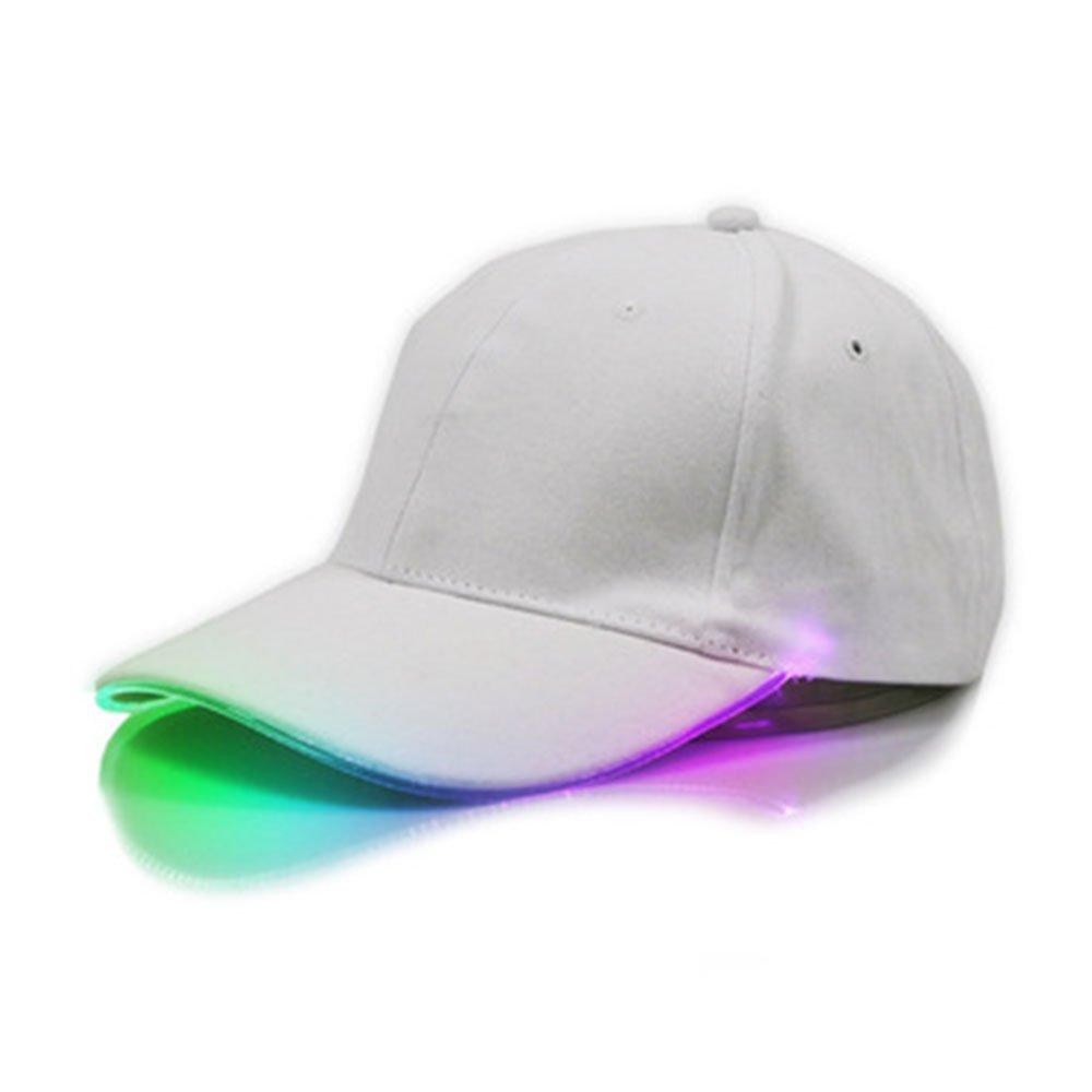 Forfar JWBOSS Hip Hop R/églable Sports Chapeau LED /Éclair/é Club de Luminous Casquettes de Base Ball Nuit Partyl Hip Hop R/églable