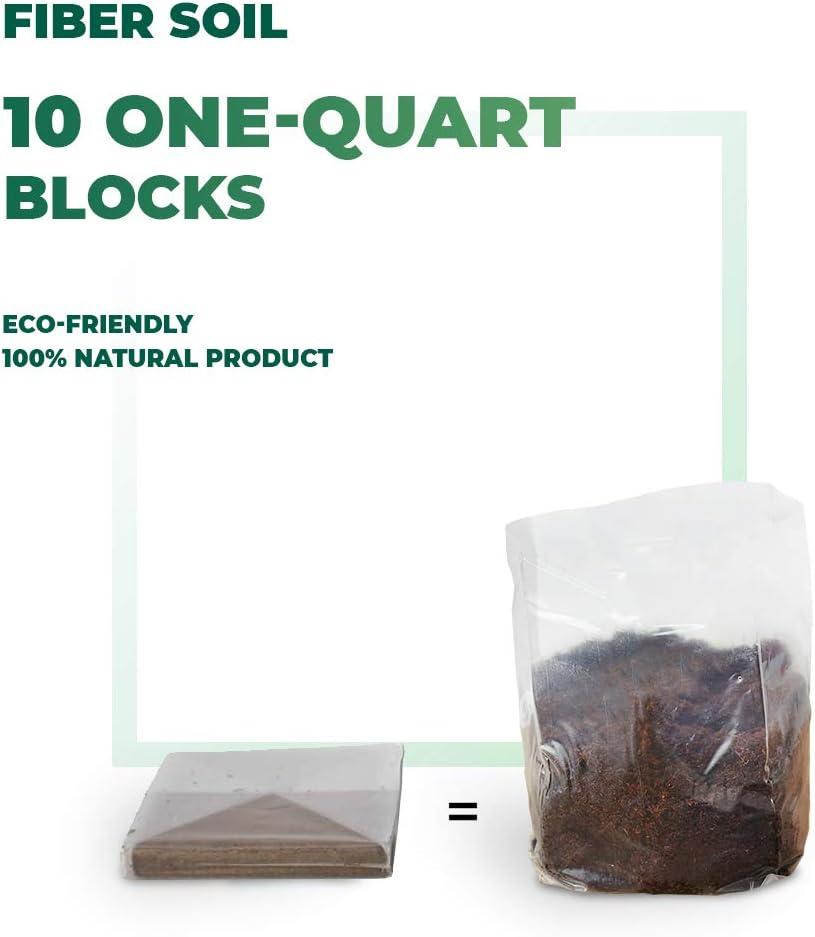 Window Garden Fiber Soil Premium Potting Soil (Fiber Soil 10-1 QT Bags)