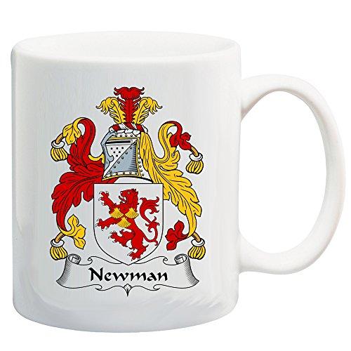 Newman Coat of Arms/Newman Family Crest 11 Oz Ceramic Coffee/Cocoa Mug by Carpe Diem Designs, Made in the U.S.A.