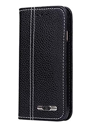 KolorFish Executive Business Series Leather Flip Wallet Case Cover for Apple iPhone 6 Plus, iPhone 6S Plus  Black  Cases   Covers