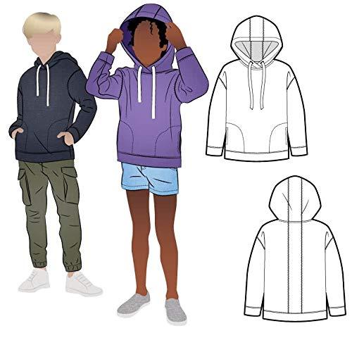 Style Arc Sewing Pattern - Fitzroy Kids Hoody