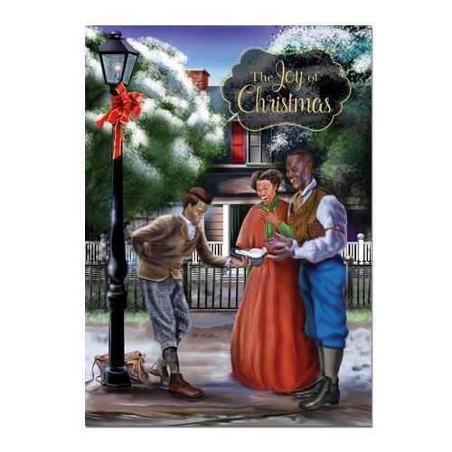 """Office Products : African American Expressions - Joy of Christmas/ Old Fashion Christmas Boxed Christmas Cards (15 cards, 5"""" x 7"""") C-937"""