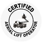 Certified Aerial Lift Operator Hard Hat Labels Plain & Reflective Vinyl Reflective Vinyl