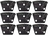 Double Bar Split PCD Grinding/Polishing Trapezoids - 12mm Segments - 9 Pack - Dragon Tooling
