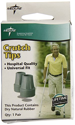 Medline Crutch Replacement Tips, Gray
