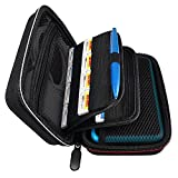 #7: Deruitu Compatible for New Nintendo 2DS XL Case - Fits Wall Charger - Large Storage with 16 Games, Carrying Handle, Free XL Stylus Pen, Great for Travel - Black