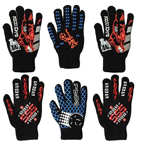 (Gilbin Magic-Stretch Gripper Glove, Kids Size, Sports Set, 6 Pair (Size 7-10 Years))