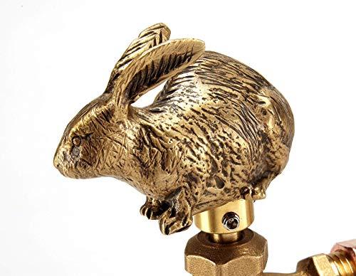 Festive Faucets - Rabbit Garden Faucet Handle - Universal Outdoor Faucet Handle