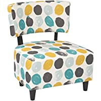 Ave Six BLV-R7-osp Boulevard Chair, Brushed Dot Peacock