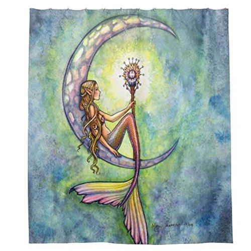 85OFF Morning Sunshine Beautiful Vintage Mermaid Fairy Tale Art Shower Curtain Heavy