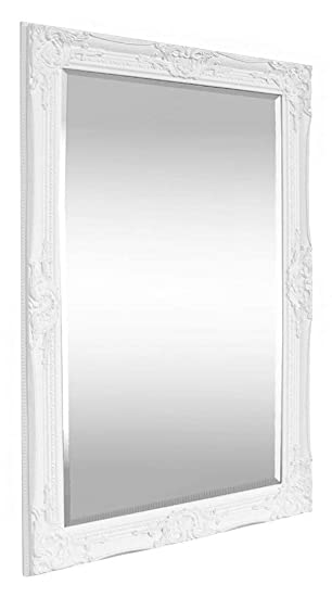 Grand Miroir Rectangulaire Style Baroque Shabby Chic 90x60 Cm
