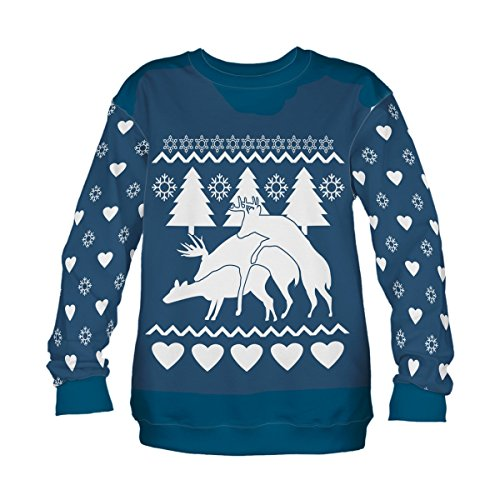 Femmes Pull Sweat-Shirt à manches longues Imprime 3D Winter Reindeers [038]