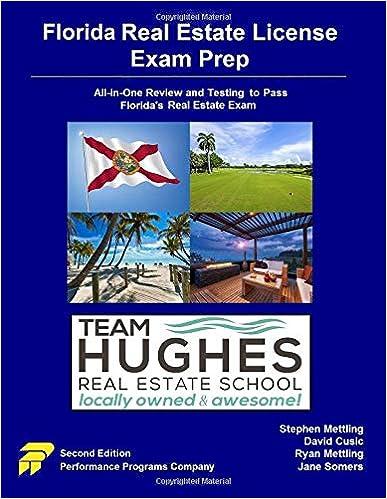 Florida Real Estate License Exam Prep Team Hughes Re School