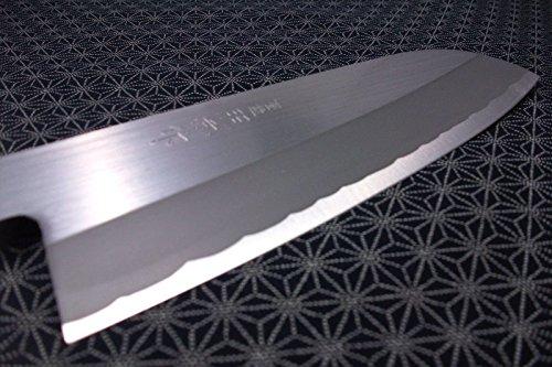 Japanese Santoku Kitchen Knife TERUHIDE Wooden Handle Carbon Steel Made in Japan by NEW (Image #1)