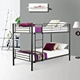 Mecor Metal Bunk Beds Frame 2x3FT Single Bed for Kids Childrens and Adults (Black)