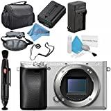Sony Alpha a6300 Mirrorless Digital Camera (Silver) ILCE6300/S Base Bundle