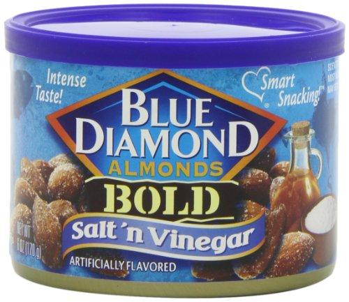Blue Diamond Gluten Free Almonds, Bold Salt & Vinegar, 6 Ounce (Pack of 12)