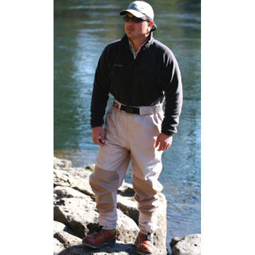 Caddis Men's Attractive 2-Tone Taupe Deluxe Breathable Stocking Foot Waist-High Wader, X-Large, Outdoor Stuffs