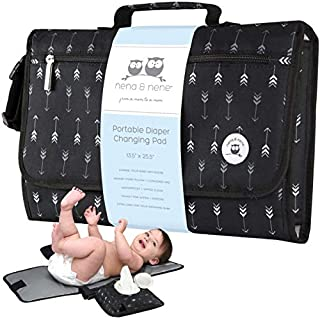 Portable Changing Pad Large | Waterproof Baby Changing Pad Station for Travel with Extra Padding for Comfort & Built-in Pillow; Diaper Changing Pad Portable Detachable with One Hand