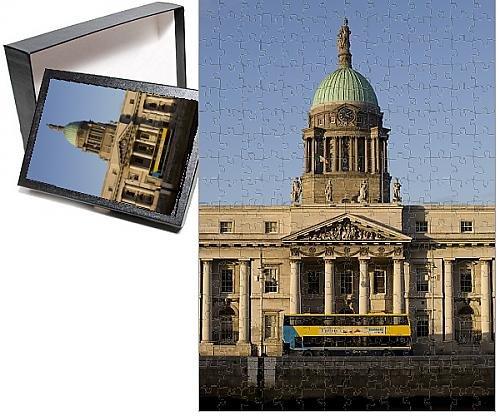 Dublin Dome - Photo Jigsaw Puzzle of Custom House Quay, Dublin, Republic of Ireland, Europe