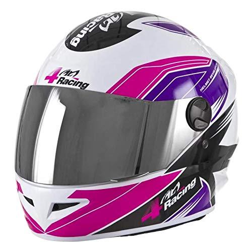 Pro Tork Capacete 4 Racing 60 Rosa/Lilás