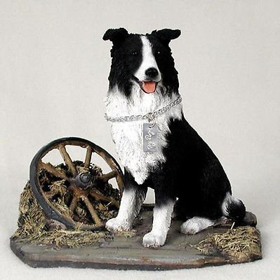 Simply Silver - BORDER COLLIE MY DOG Figurine Statue Pet Lovers Gift Hand Painted