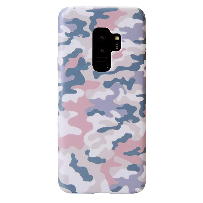 outlet store 4e0d8 dd0ee Pink Blue Nude Camo Galaxy S9 Plus Case - Cute Premium Protective Phone  Cases for Girls Women [Drop Test Certified Cover for Samsung Galaxy S9 Plus]