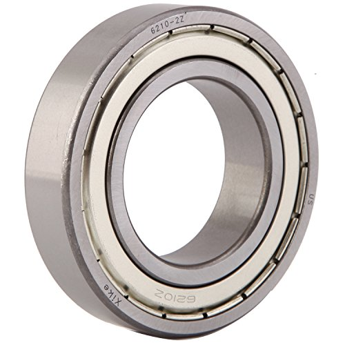 Deep Groove Ball Bearings 6210ZZx2Pcs Cost-Effective XiKe 2 Pack 6210ZZ Bearings 50x90x20mm Double Shield and Pre-Lubricated Stable Performance