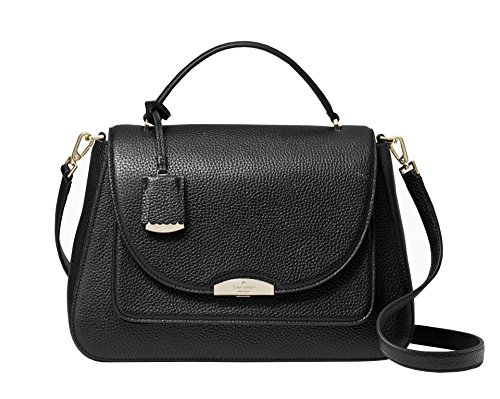 Kate Spade New York Alexya Pine Grove Way Pebbled Leather Shoulder Bag Handbag, Black by Kate Spade New York