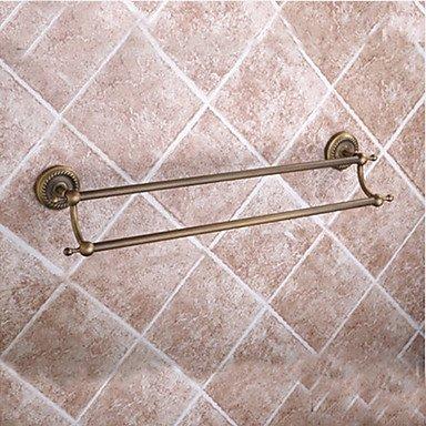 TY Bathroom Accessory Set / Antique Brass Towel Bar Antique Brass Wall Mounted 625 x 90x125mm (24.6 x 3.54 x 4.92) Brass / Ceramic / Crystal Antique by Bathroom Accessory Sets (Image #3)