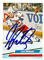 Autograph Warehouse 64502 James Patrick Autographed Hockey Card New York Rangers 1992 Fleer Ultra No. 141