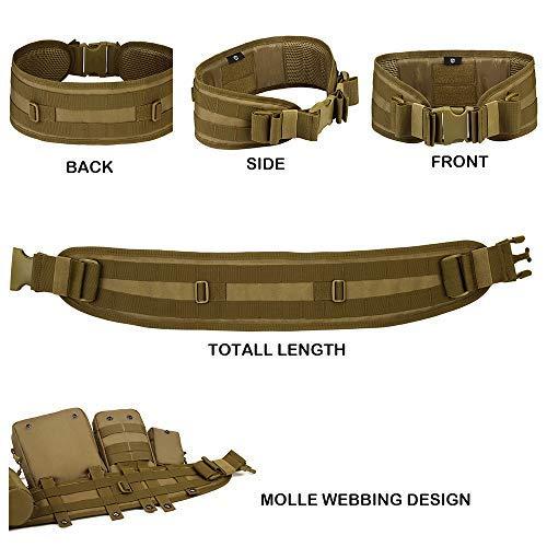 Tactical Battle Belt MOLLE Waist -Belt for Military Equipment and Outdoor Sports