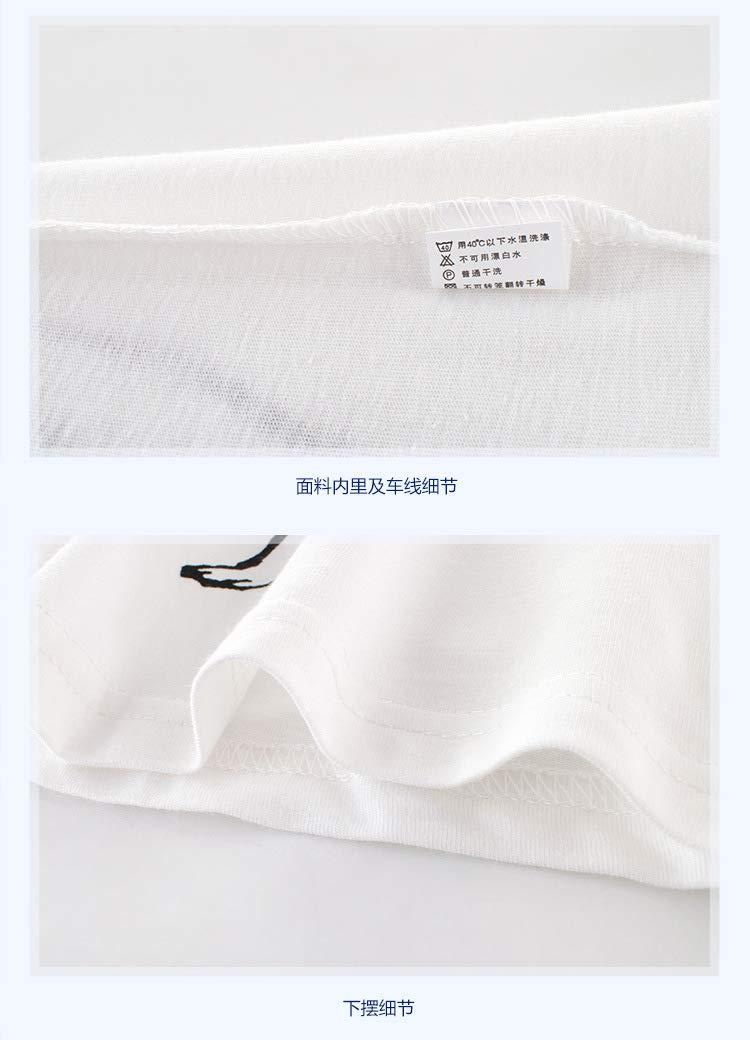 White,110cm genbz Summer Boys Boys Tops and Pants Boys Short Sleeve T-Shirts
