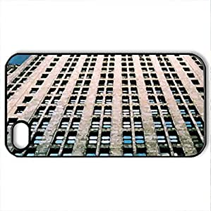 modern aechitecture office buiding - Case Cover for iPhone 4 and 4s (Modern Series, Watercolor style, Black)