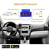 Foseal Bluetooth OBD2 OBD Scanner Check Engine Light OBDii Bluetooth Car Diagnostic Scan Tool for Android Devices