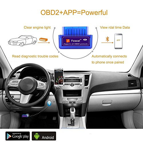 foseal bluetooth obd2 obd scanner check engine light obdii import it all. Black Bedroom Furniture Sets. Home Design Ideas