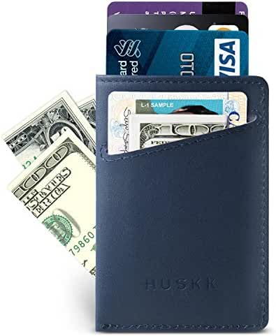 Slim RFID Wallet for Men Leather - Front Pocket Card Holder Sleeve - RFID Blocking